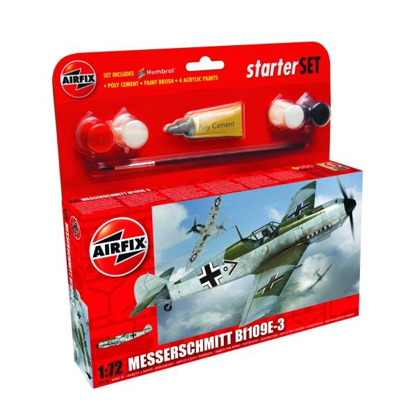 Airfix Starter Set Messerschmitt Bf109E-3 1:72