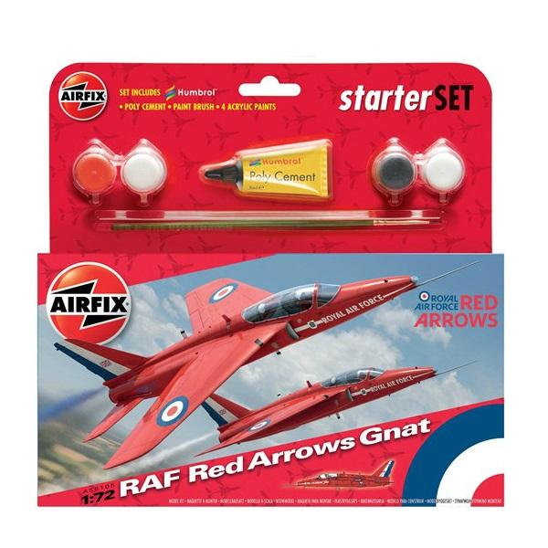 Airfix Starter Set RAF Red Arrows Gnat Starter Set 1:72