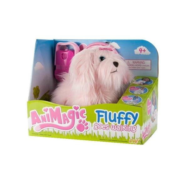 Animagic Fluffy go walkies Pink