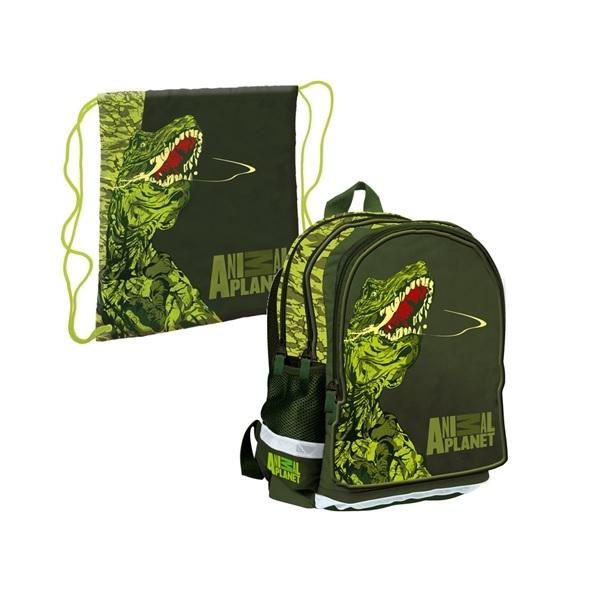 Animal Planet T-Rex, Ryggsäck + Gymnastikpåse Paket