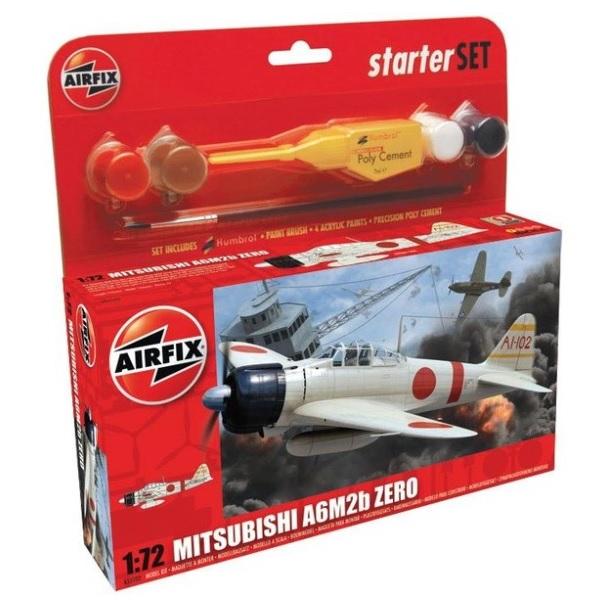 Airfix Starter Set- Flyg Mitsubishi A6M Zero 1:72
