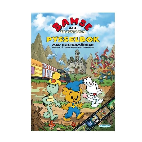 Bamse och Tjuvstaden Målarbok & Pysselbok